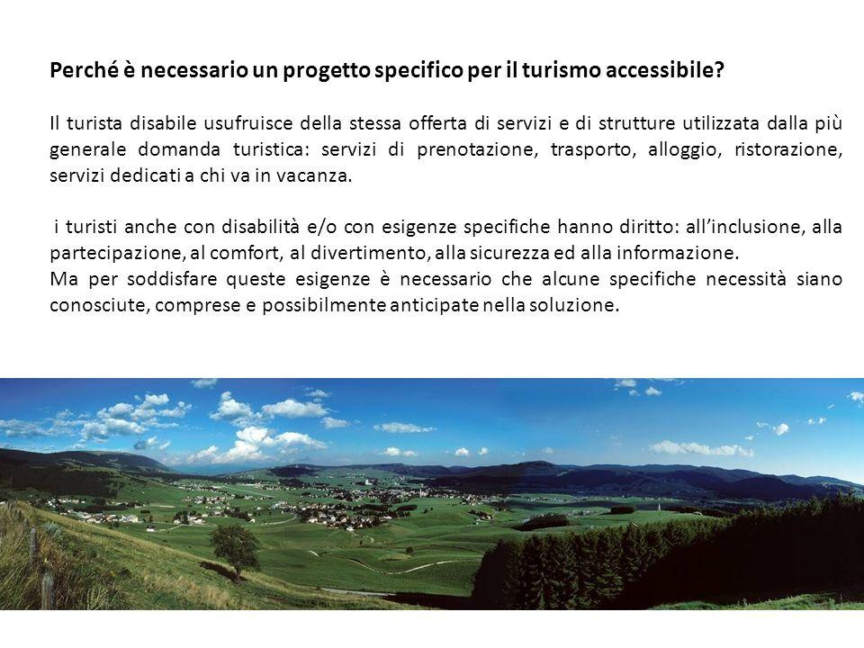 Perché è necessario un progetto specifico per il turismo accessibile.