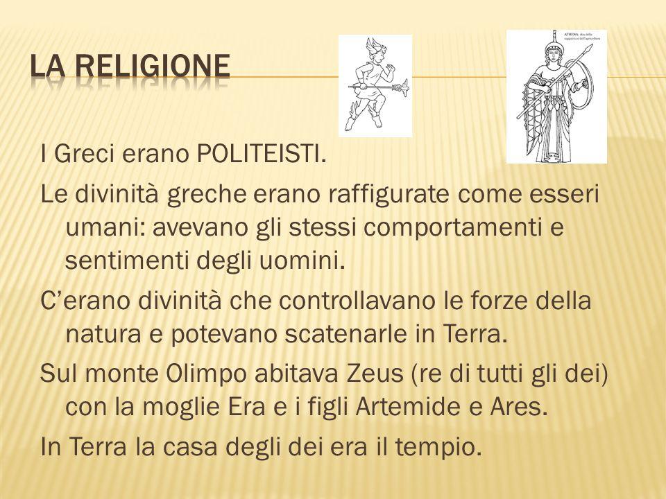 I Greci erano POLITEISTI.
