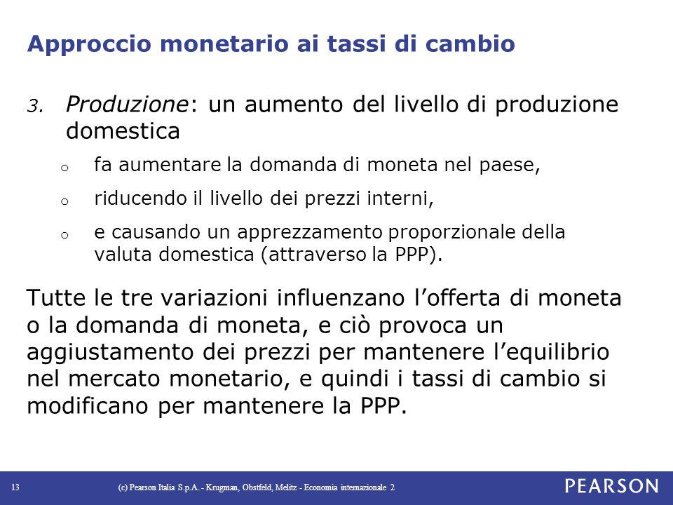 Approccio monetario ai tassi di cambio 3.