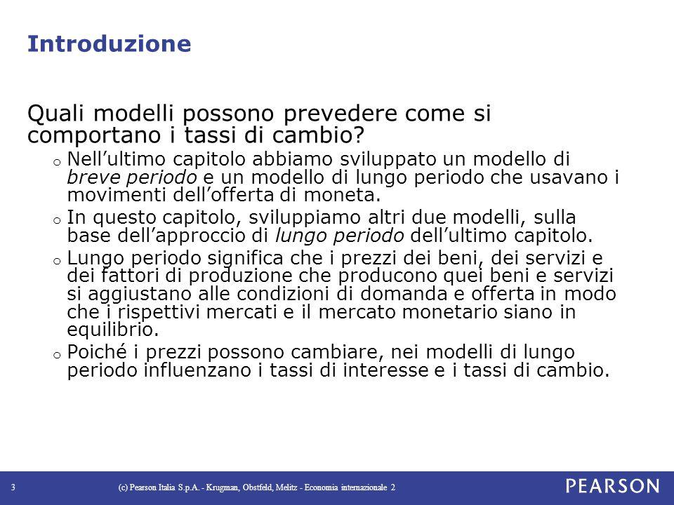 Introduzione Quali modelli possono prevedere come si comportano i tassi di cambio.