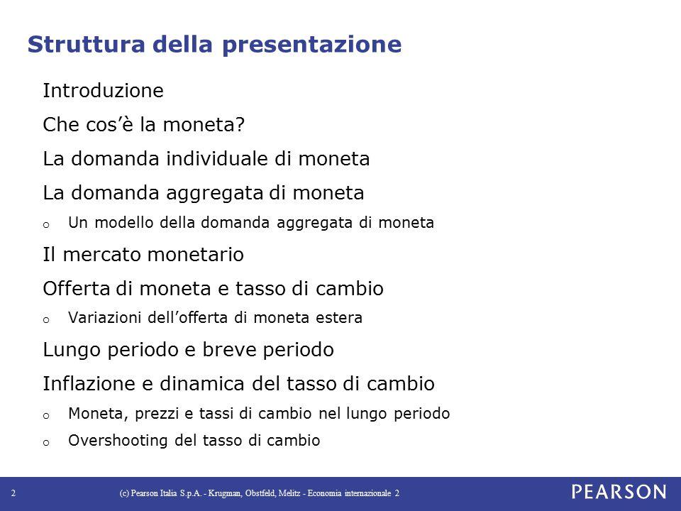 Introduzione La moneta ha alcune caratteristiche che la distinguono dalle altre attività finanziarie.