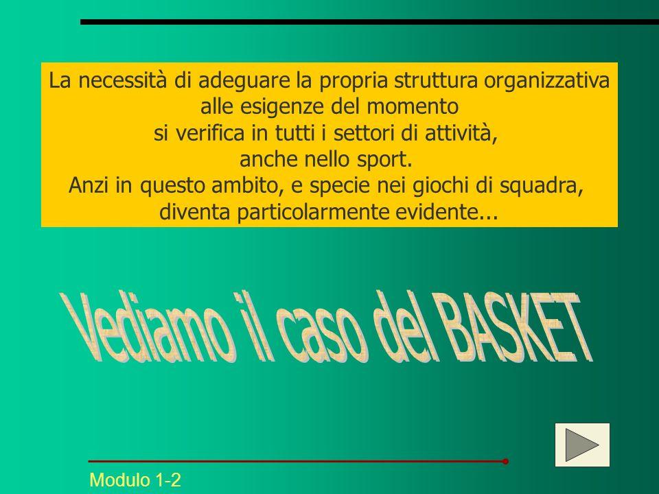 La necessità di adeguare la propria struttura organizzativa alle esigenze del momento si verifica in tutti i settori di attività, anche nello sport.