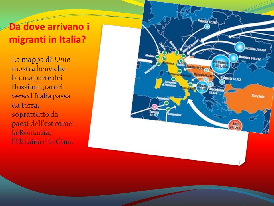 Da dove arrivano i migranti in Italia? La mappa di Lime mostra bene che buona parte dei flussi migratori verso l'Italia passa da terra, soprattutto da
