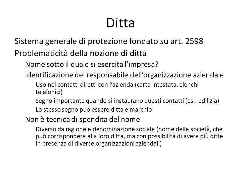 Ditta Sistema generale di protezione fondato su art.
