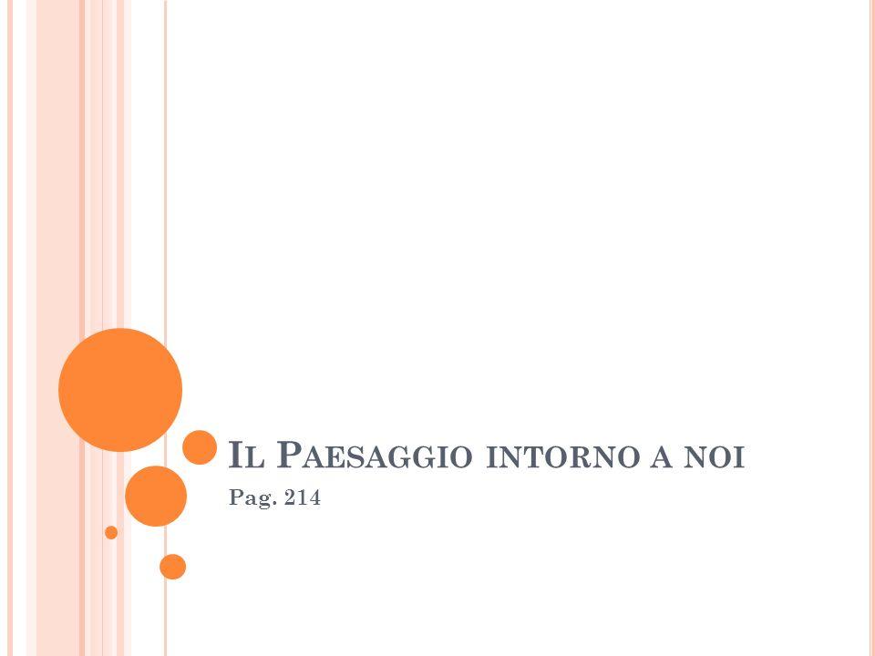 I L P AESAGGIO INTORNO A NOI Pag. 214