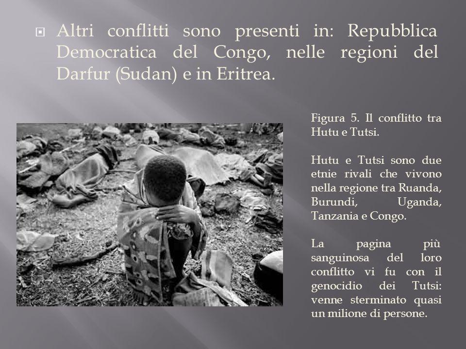  Altri conflitti sono presenti in: Repubblica Democratica del Congo, nelle regioni del Darfur (Sudan) e in Eritrea.