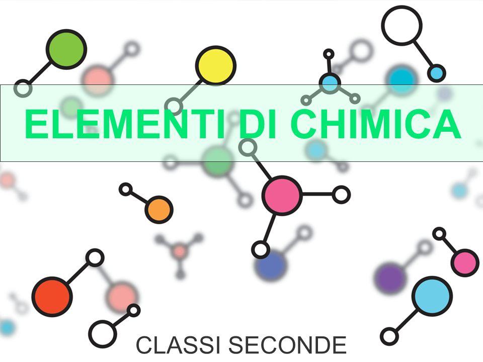 ELEMENTI DI CHIMICA CLASSI SECONDE