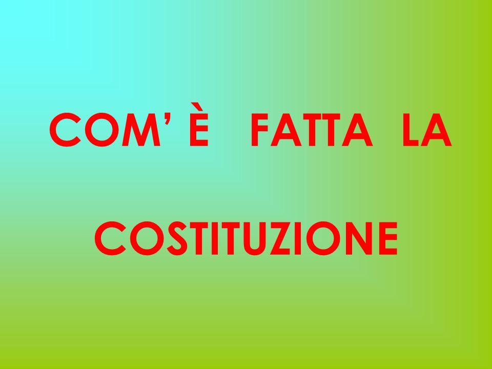 COM' È FATTA LA COSTITUZIONE
