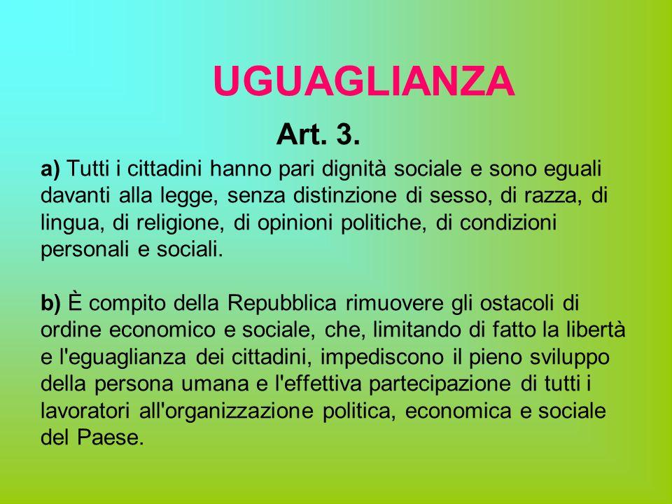 UGUAGLIANZA Art. 3.