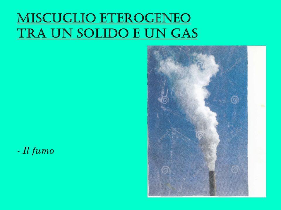 Miscuglio eterogeneo tra UN SOLIDO E UN GAS - Il fumo