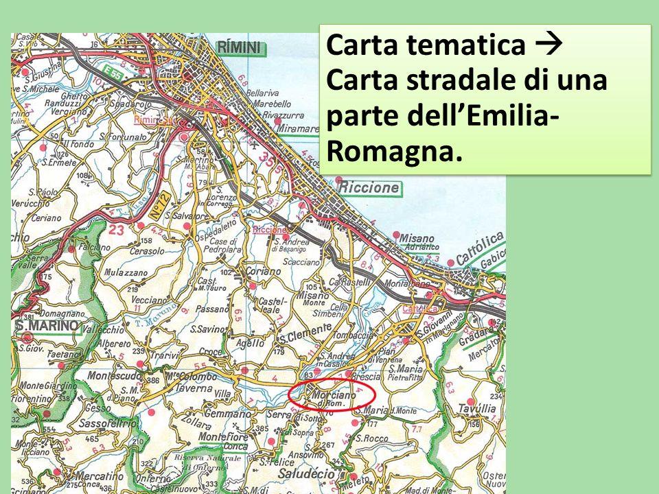 Carta tematica  Carta stradale di una parte dell'Emilia- Romagna.
