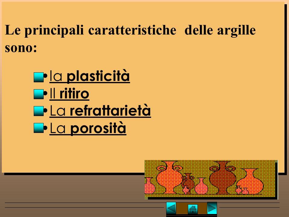 Le principali caratteristiche delle argille sono: la plasticità Il ritiro La refrattarietà La porosità Le principali caratteristiche delle argille sono: la plasticità Il ritiro La refrattarietà La porosità Caratteristiche dell'argillaCaratteristiche dell'argilla Lucio TROISE
