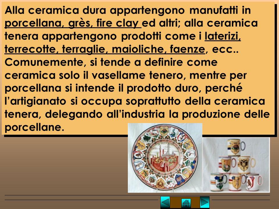 Prodotti ceramici principali Laterizi Terracotta Terraglia Maiolica Faenza Porcellana Prodotti ceramici principali Laterizi Terracotta Terraglia Maiolica Faenza Porcellana Prodotti ceramici Lucio TROISE