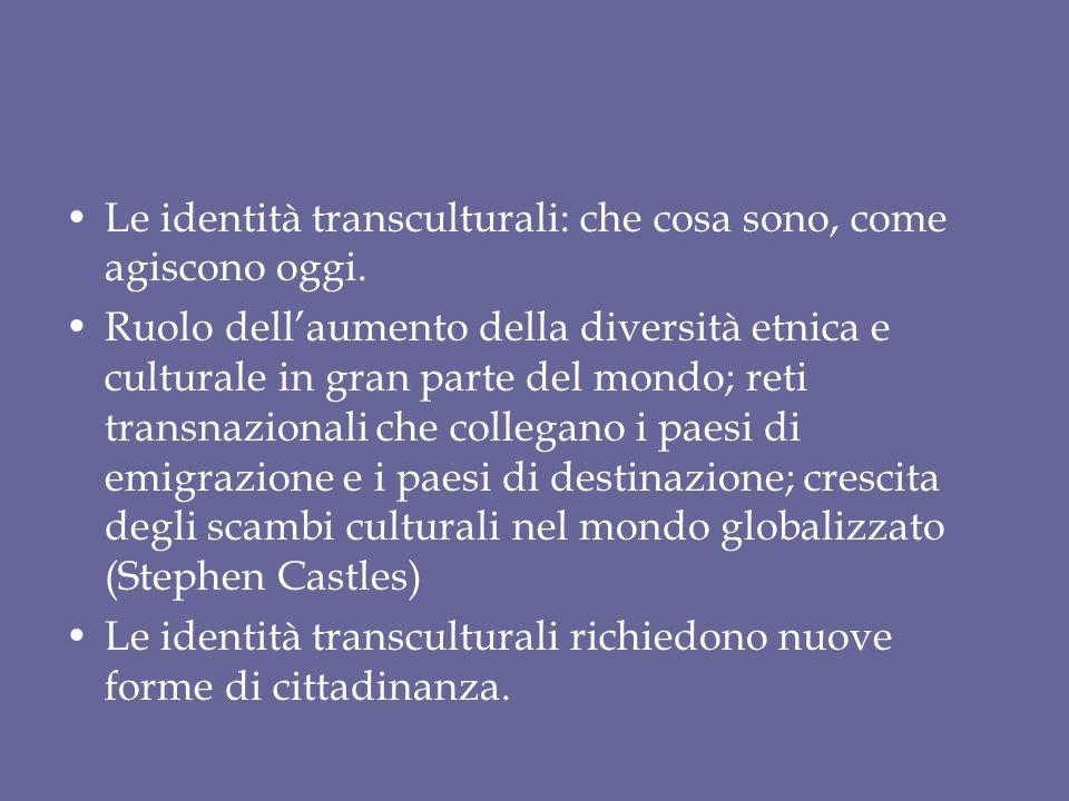 Le identità transculturali: che cosa sono, come agiscono oggi.