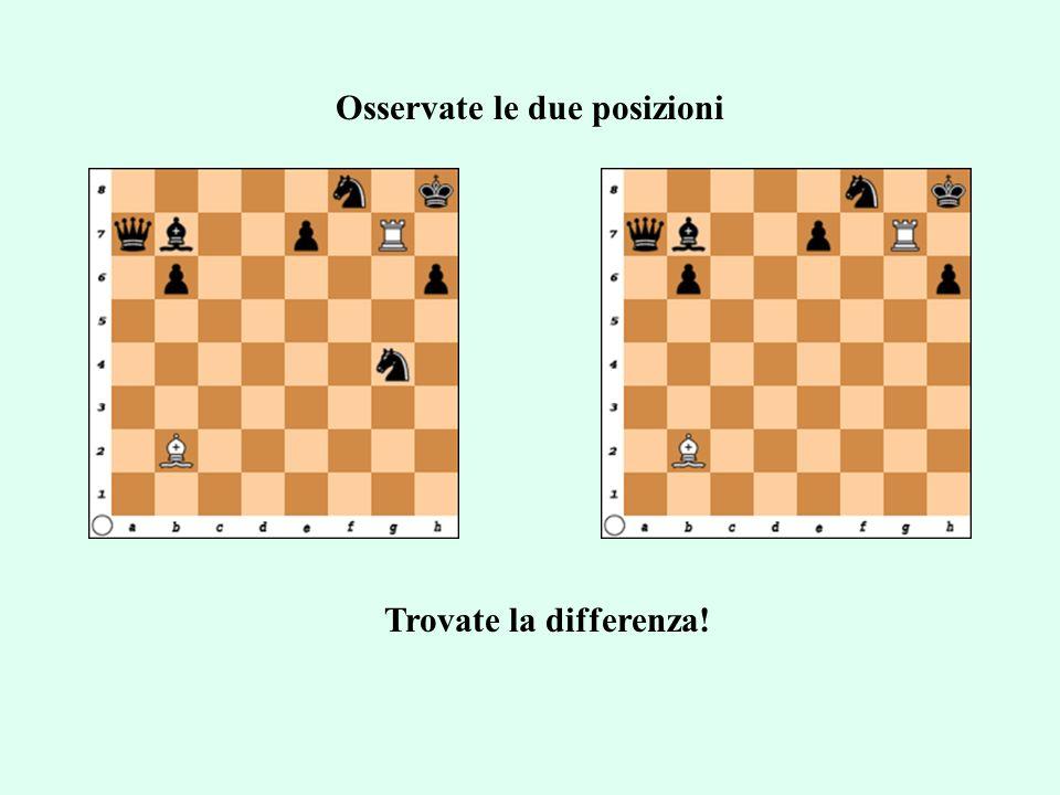 Osservate le due posizioni Trovate la differenza!
