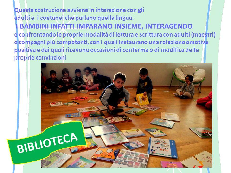 Questa costruzione avviene in interazione con gli adulti e i coetanei che parlano quella lingua.