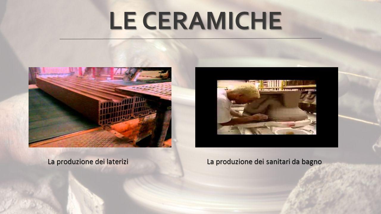 La produzione dei laterizi La produzione dei sanitari da bagno La produzione dei laterizi La produzione dei sanitari da bagno LE CERAMICHE