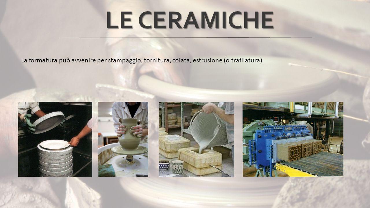 Le ceramiche si suddividono in due categorie: Ceramiche a pasta porosa Ceramiche a pasta compatta LE CERAMICHE