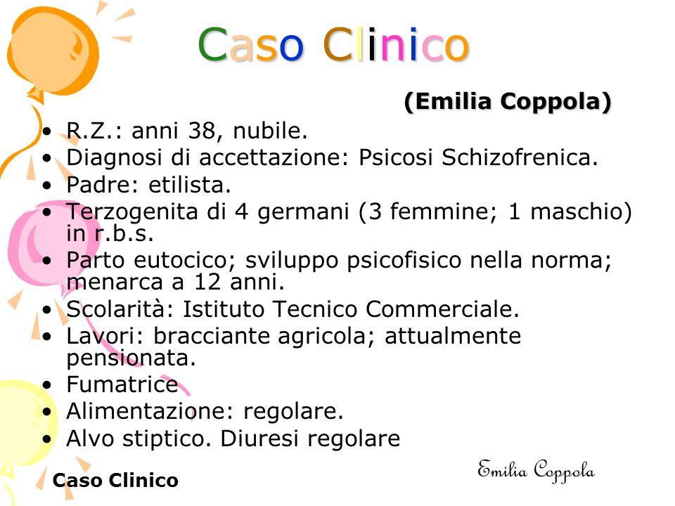 Caso ClinicoCaso ClinicoCaso ClinicoCaso Clinico R.Z.: anni 38, nubile.