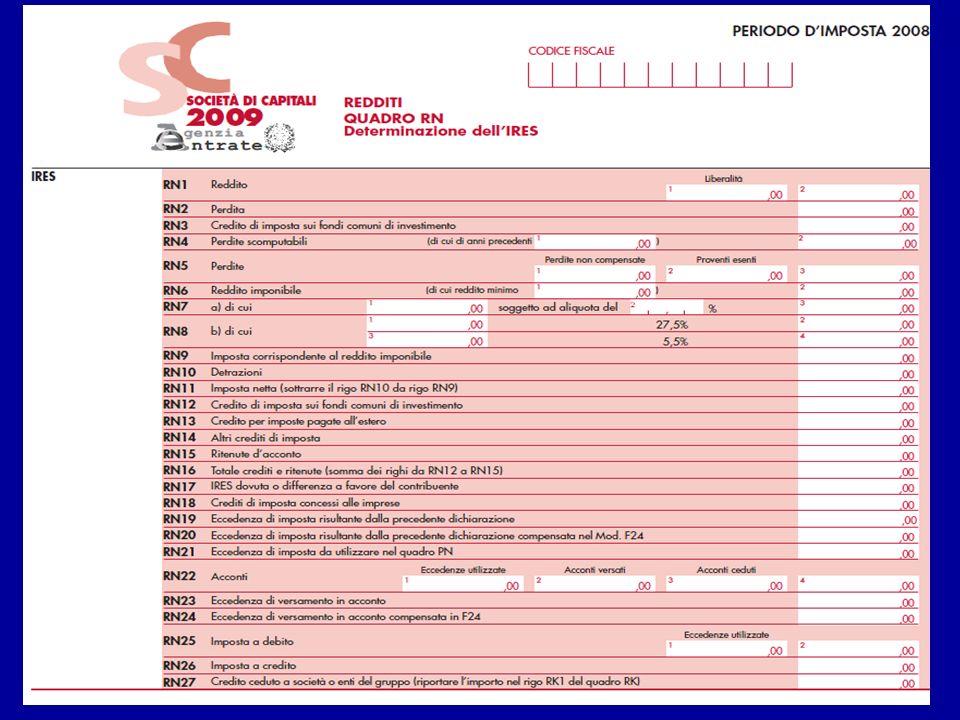 Nel rigo RN1, va indicato in colonna 2, il reddito di rigo RF73, col. 2 1.800 495