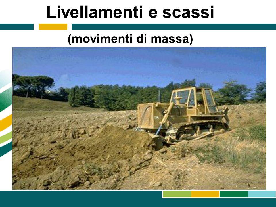 Livellamenti e scassi (movimenti di massa)
