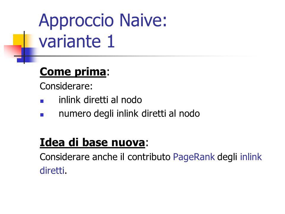 Approccio Naive Base: funziona davvero.