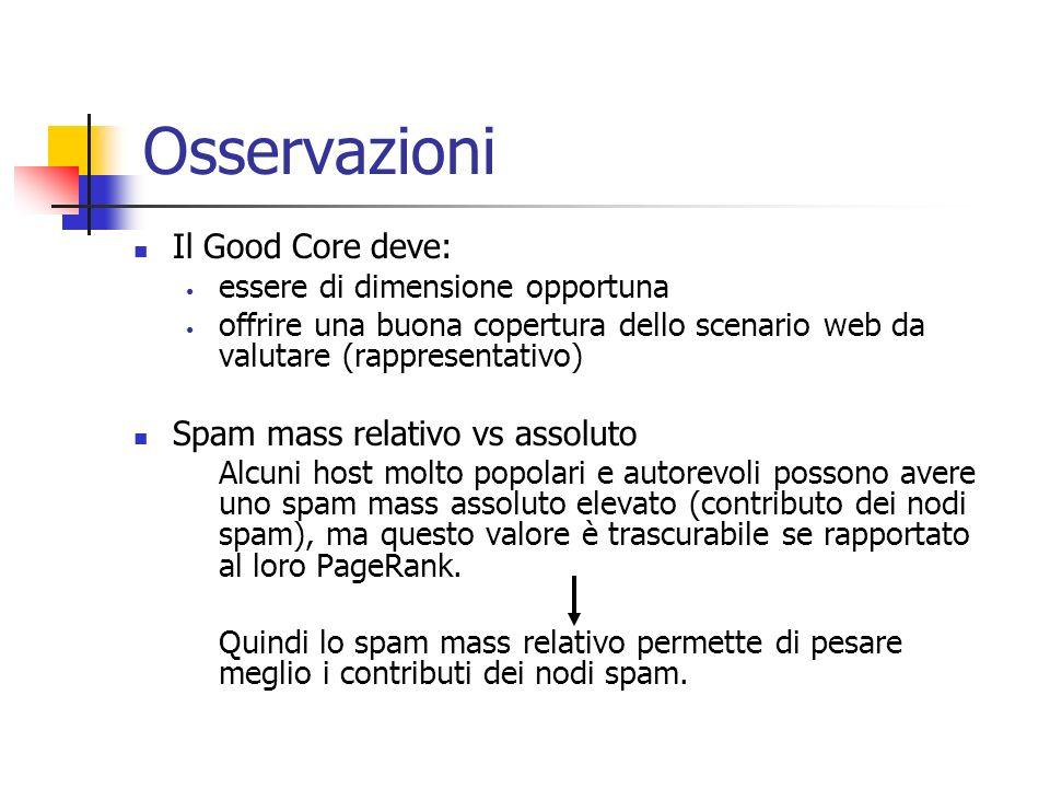 Caso Yahoo!: precisione algoritmo (2)