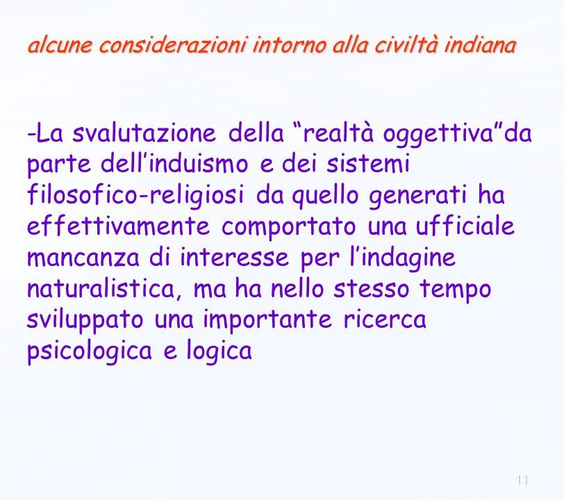11 -La svalutazione della realtà oggettivada parte dellinduismo e dei sistemi filosofico-religiosi da quello generati ha effettivamente comportato una