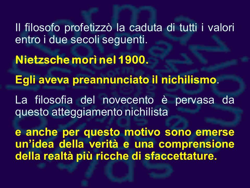 Nietzsche evidenzia la storica contrapposizione tra fedeltà al cielo e fedeltà alla terra.