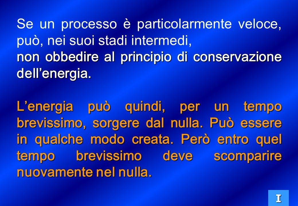 Se un processo è particolarmente veloce, può, nei suoi stadi intermedi, non obbedire al principio di conservazione dellenergia.