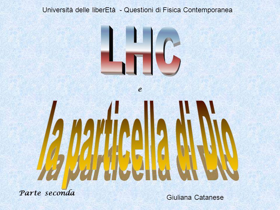 Giuliana Catanese Università delle liberEtà - Questioni di Fisica Contemporanea e Parte seconda