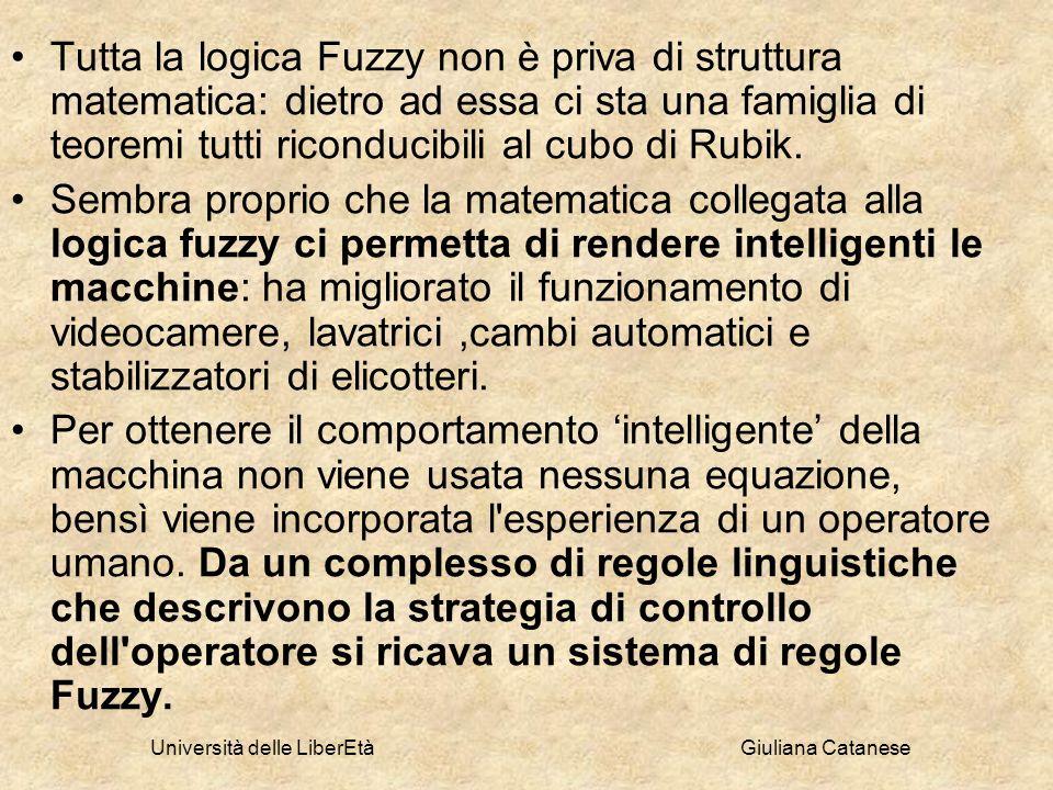 Università delle LiberEtà Giuliana Catanese Tutta la logica Fuzzy non è priva di struttura matematica: dietro ad essa ci sta una famiglia di teoremi t