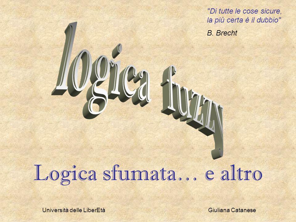 Università delle LiberEtà Giuliana Catanese Certo vi sarete domandati cosa ci faccia in un ciclo di incontri su Scienze e fedi la logica, la logica matematica.