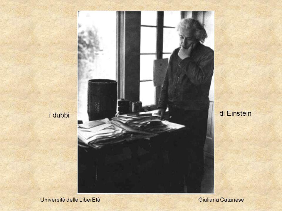 Università delle LiberEtà Giuliana Catanese di Einstein i dubbi
