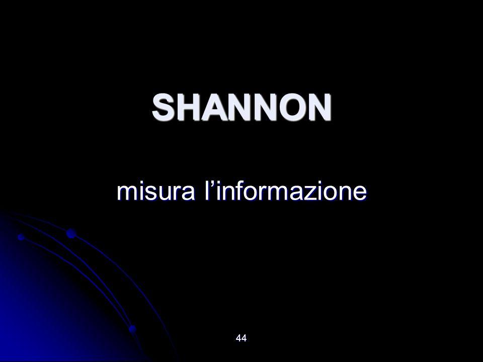 44 SHANNON misura linformazione