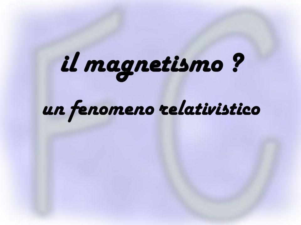 il magnetismo ? un fenomeno relativistico