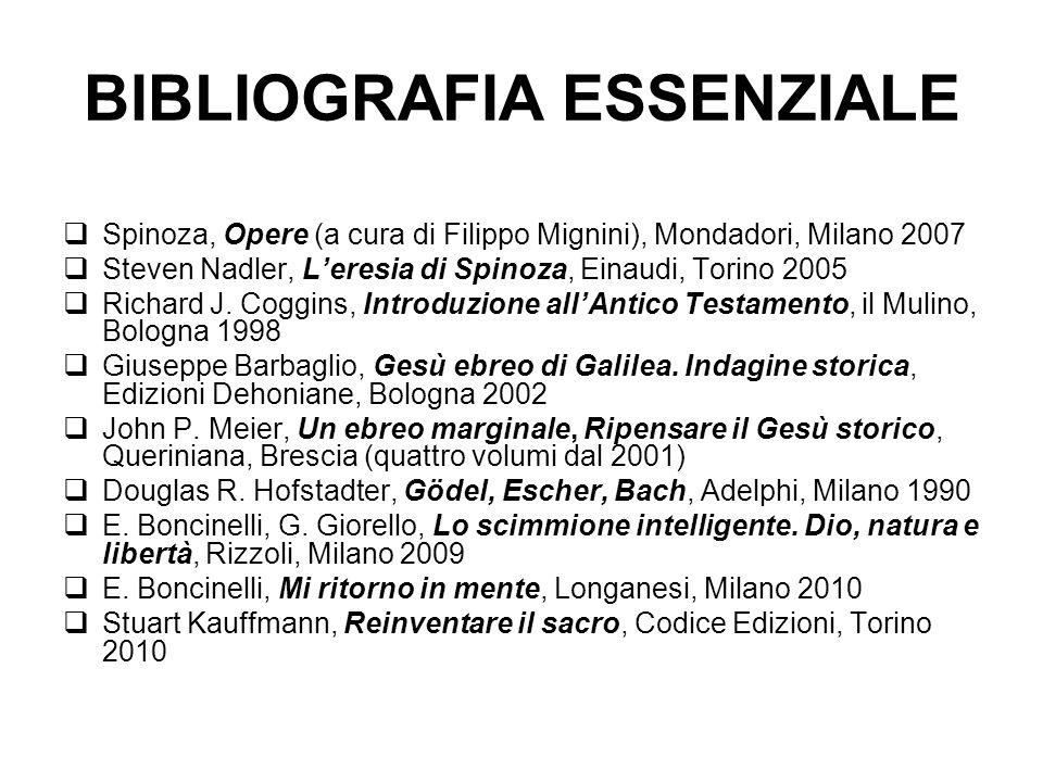 BIBLIOGRAFIA ESSENZIALE Spinoza, Opere (a cura di Filippo Mignini), Mondadori, Milano 2007 Steven Nadler, Leresia di Spinoza, Einaudi, Torino 2005 Richard J.