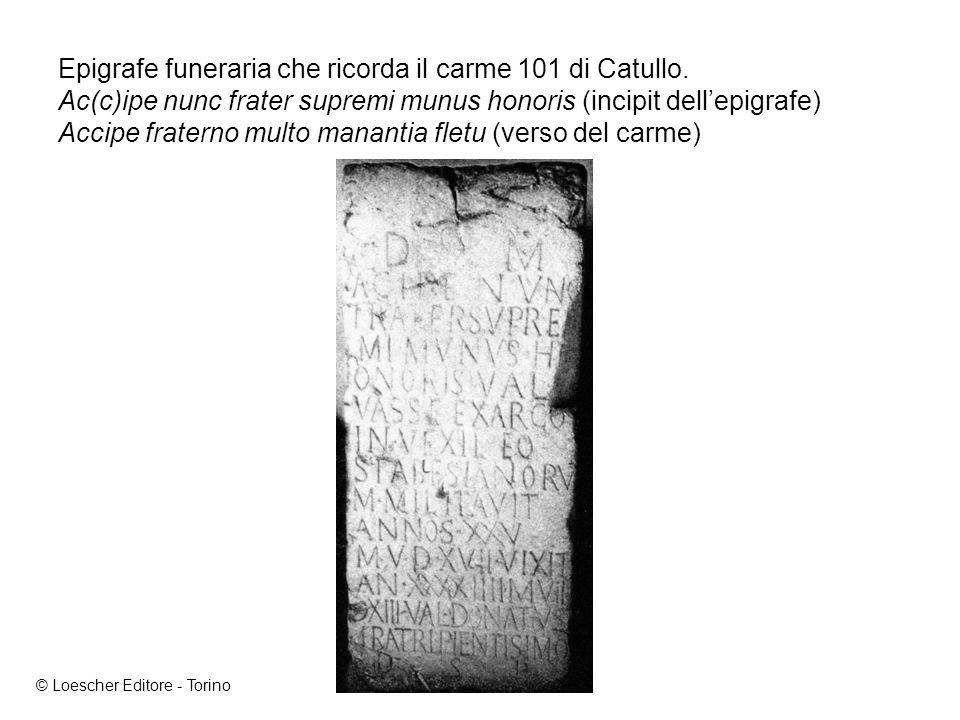 Epigrafe funeraria che ricorda il carme 101 di Catullo.