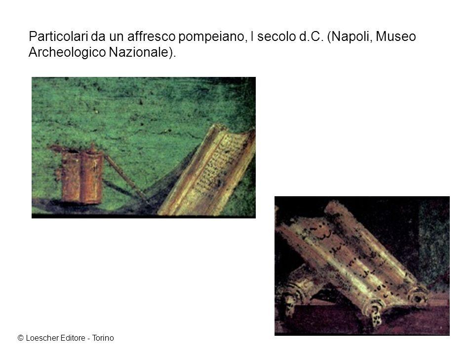 Particolari da un affresco pompeiano, I secolo d.C.