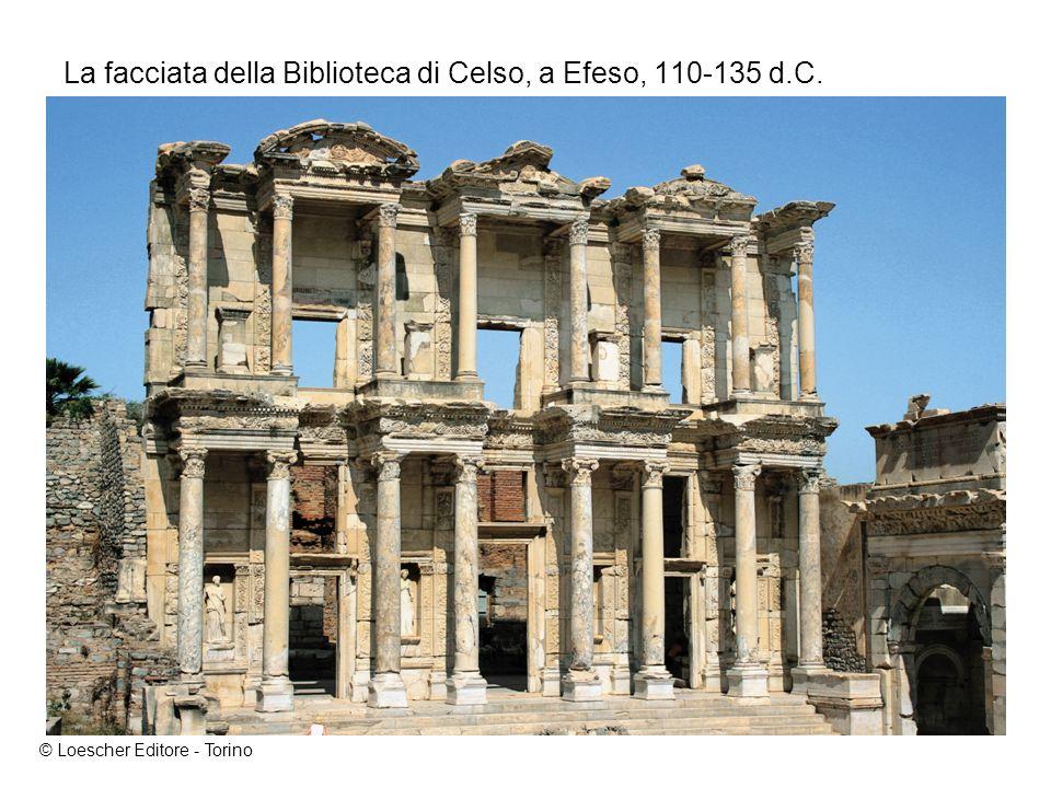 La facciata della Biblioteca di Celso, a Efeso, 110-135 d.C. © Loescher Editore - Torino