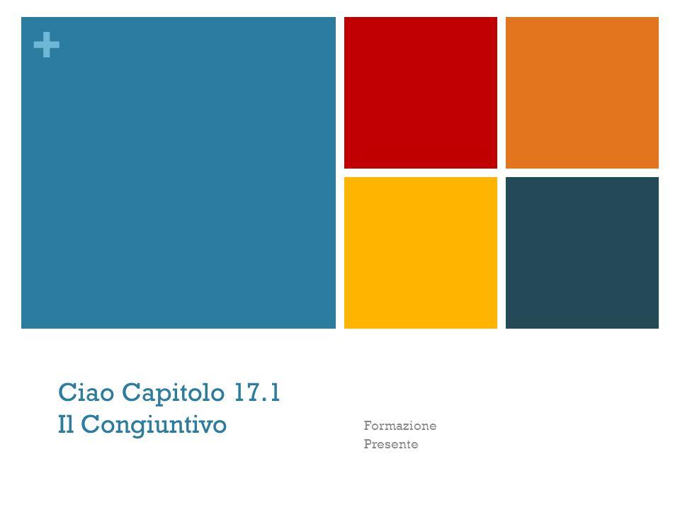 + Ciao Capitolo 17.1 Il Congiuntivo Formazione Presente
