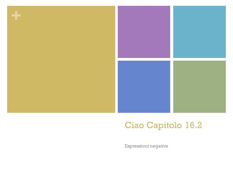 + Ciao Capitolo 16.2 Espressioni negative