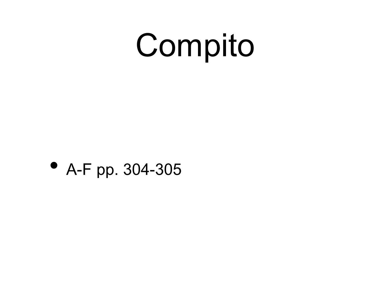 Compito A-F pp. 304-305