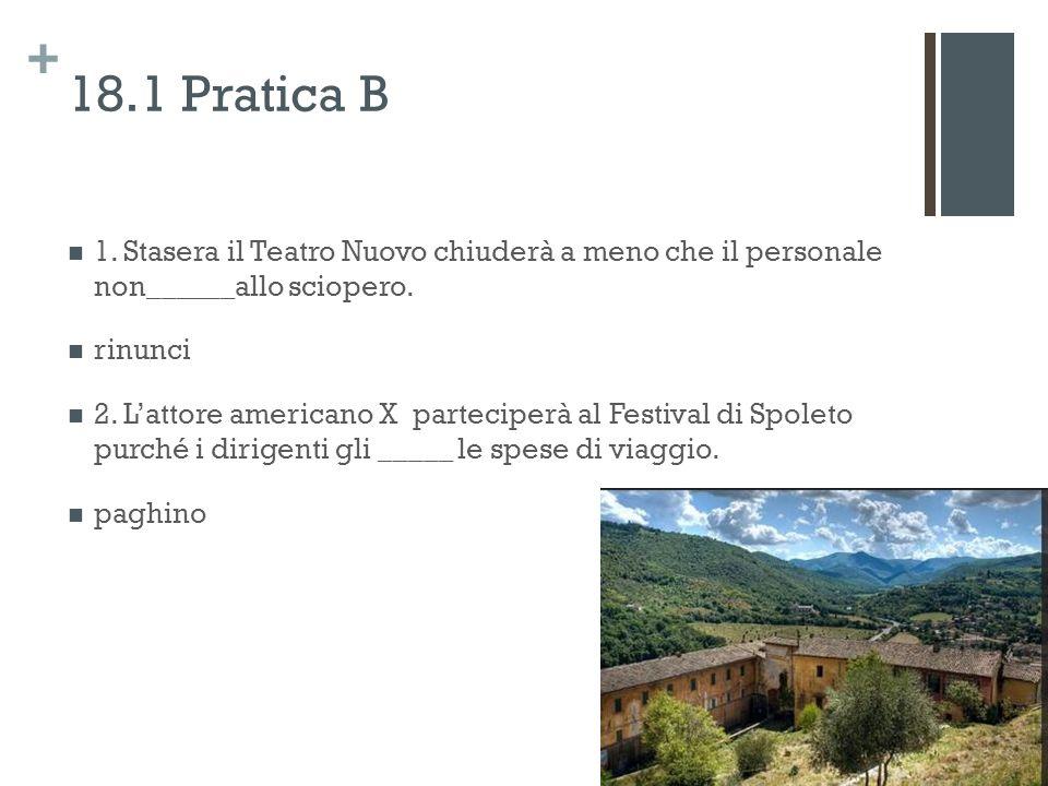 + 18.1 Pratica B 1.