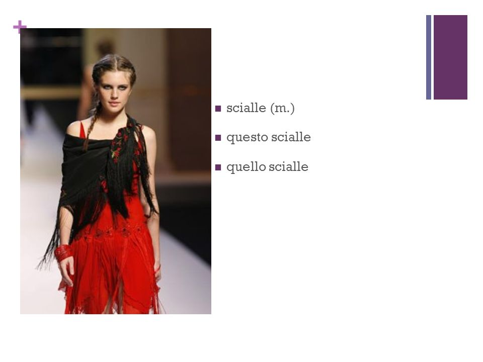 + scialle (m.) questo scialle quello scialle
