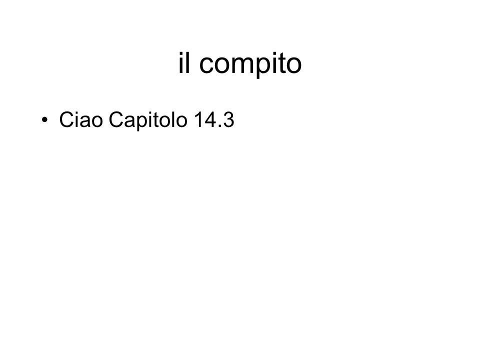 il compito Ciao Capitolo 14.3