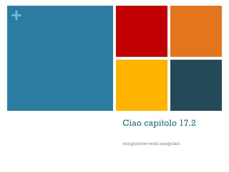 + Ciao capitolo 17.2 congiuntivo verbi irregolari