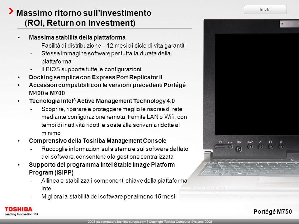 Massimo ritorno sull'investimento (ROI, Return on Investment) Massima stabilità della piattaforma -Facilità di distribuzione – 12 mesi di ciclo di vit