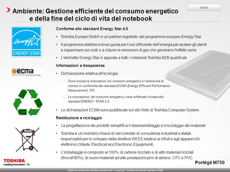 Conforme allo standard Energy Star 4.0 Toshiba Europe GmbH è un partner registrato del programma europeo Energy Star. Il programma stabilisce linee gu