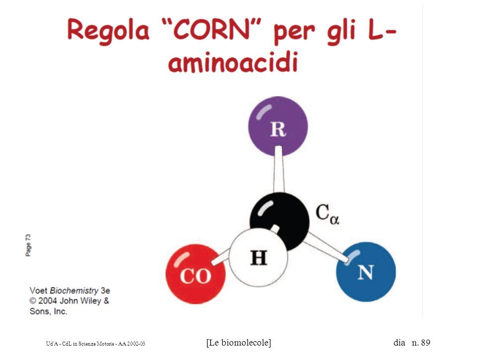 Ud'A - CdL in Scienze Motorie - AA 2002-03 [Le biomolecole] dia n. 89